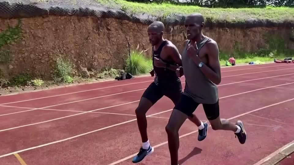 Kenyan runner prepares for Olympics in pandemic