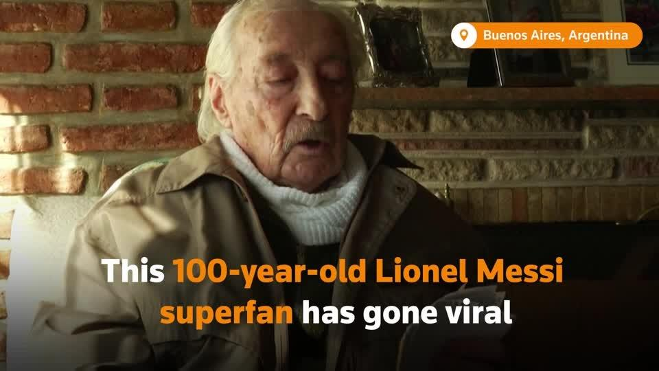 100-year-old superfan keeps notes of every Messi goal