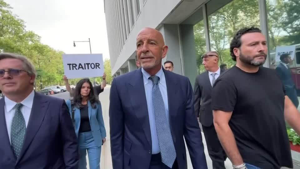 Trump ally Barrack jeered outside Brooklyn court