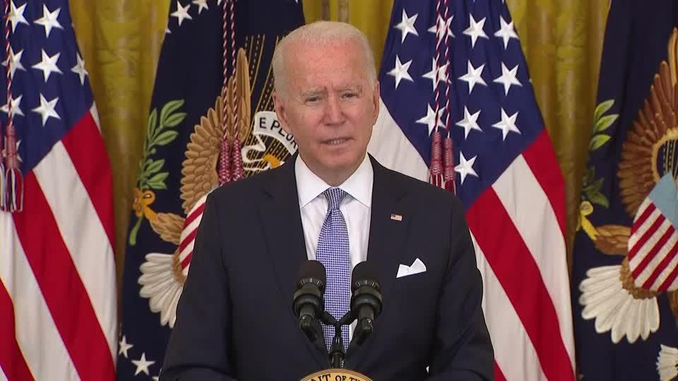 '$100 to anyone who gets fully vaccinated' -Biden