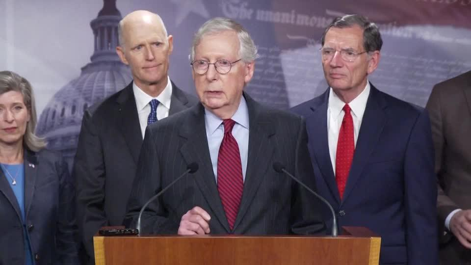 'Raise the debt ceiling' -McConnell to Democrats