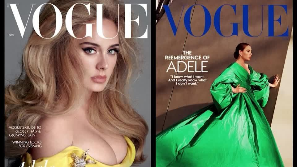 Adele's musical comeback celebrated in Vogue