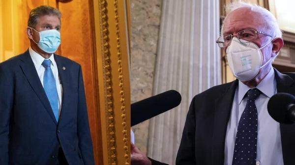It's Manchin vs. Sanders in infrastructure spat