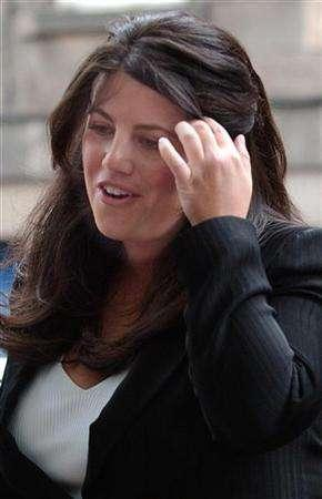 Monica Lewinsky arrives at the International Exhibition and Conference Centre in Edinburgh, 28 August, 2004. Lewinsky, whose sexual relationship with U.S. President Bill Clinton led to his impeachment, has graduated from the London School of Economics, her publicist said on Wednesday. REUTERS/Robert Paterson