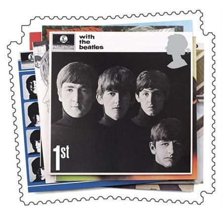 One of six Beatles album covers to appear on special stamps is seen in this handout picture released by Britain's Royal Mail December 28, 2006. The company representing The Beatles has settled a 30 million-pound royalty dispute with EMI Group, in a deal that could finally pave the way for the Liverpool band's music to go online. REUTERS/Royal Mail/Handout
