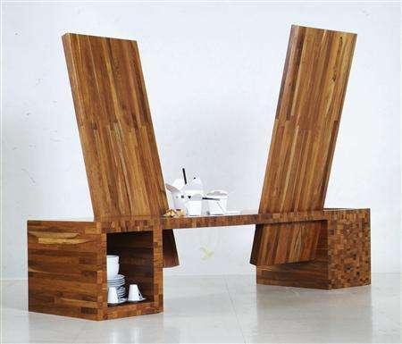 . Thai architect crafts construction site furniture