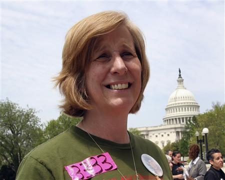 Anti-war activist Cindy Sheehan attends a rally on Capitol Hill, April 25, 2007. Sheehan announced she was ending her public campaign against the Iraq war with an angry blast at Democrats, Republicans and ''cowardly leaders'' who have abandoned U.S. troops indefinitely in Iraq. REUTERS/Yuri Gripas