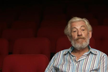 Ian McKellen pauses during an interview with Reuters in Singapore July 18, 2007. As Gandalf and Magneto, he's faced off fire-breathing monsters and superheroes, but McKellen says he picks his battles when it comes to celebrity causes. REUTERS/David Yeo