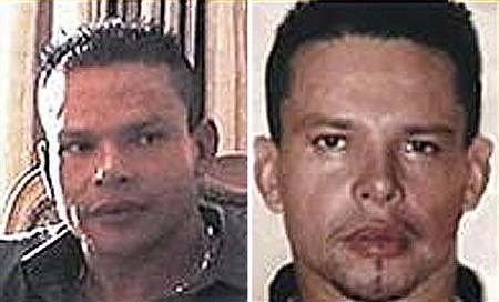Colombian citizen Juan Carlos Ramirez Abadia, considered one of his country's most important drug traffickers, is seen in these two undated photographs posted on the U.S. Department of State website. Brazilian police arrested Ramirez Abadia on August 7, 2007 in an operation against an international smuggling and money-laundering ring, officials said. Ramirez Abadia was arrested in a dawn raid on an apartment in the town of Aldeia da Serra, in Sao Paulo state, as part of an operation across six states, the federal police force said in a statement. REUTERS/U.S. Department of State/Handout