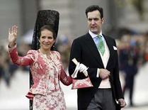 <p>La infanta Elena, primogénita del Rey de España, y su marido Jaime de Marichalar (ambos en la foto) anunciaron su separación temporal, informó el martes el Palacio de la Zarzuela. '(Los duques de Lugo) confirma el cese temporal de su convivencia conyugal', dijo una portavoz de la Casa Real. Photo by Albert Gea/Reuters</p>