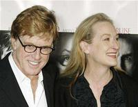 "<p>Robert Redford (L) and Meryl Streep, stars of the film ""Lions for Lambs"", pose as they arrive for a screening of the film directed by Redford at the opening of the AFI Fest 2007 film festival in Hollywood November 1, 2007. REUTERS/Fred Prouser</p>"