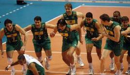 <p>A seleção brasileira masculina de vôlei venceu o Japão neste domingo e conquistou o bicampeonato da Copa do Mundo. Photo by Toru Hanai</p>