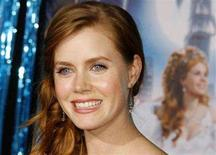 """<p>Amy Adams, star of the film """"Enchanted"""", poses at the film's premiere in Hollywood, November 17, 2007. The Walt Disney Co family fantasy """"Enchanted"""" enjoyed another fairy-tale weekend at the North American box office on Sunday, but overall sales succumbed to the traditional post-Thanksgiving blues. REUTERS/Fred Prouser</p>"""