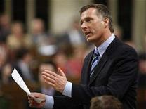 <p>Canada's Foreign Affairs Minister Maxime Bernier speaks in the House of Commons on Parliament Hill in Ottawa, November 15, 2007. REUTERS/Chris Wattie</p>