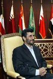 <p>Президент Ирана Махмуд Ахмадинежад на открытии саммита Совет по сотрудничеству стран Персидского залива в городе Доха 3 декабря 2007 года. Президент Ирана Махмуд Ахмадинежад провозгласил победу Ирана в ядерном споре с США после доклада американских спецслужб, в котором утверждается, что Тегеран вот уже несколько лет не работает над созданием ядерного оружия. (REUTERS/Fadi Al-Assaad)</p>