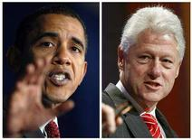 <p>A combination photo shows Senator Barack Obama and former President Bill Clinton. Both received Grammy nominations in the Best Spoken-Word Album category, announced in Los Angeles on Thursday. REUTERS/Brian Snyder and Chip East/Files</p>
