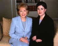 """<p>Monica Lewinsky (R) poses with television personality Barbara Walters in an undated publicity photograph for the ABC News program """"20/20."""" Walters, famed for celebrity television interviews that often draw on-screen tears, says she's tired of Britney, Paris and the tabloid trend she helped create. REUTERS/Handout</p>"""