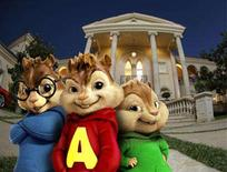 """<p>A scene from """"Alvin and The Chipmunks"""" in an image courtesy of 20th Century Fox. REUTERS/Handout</p>"""