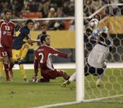 <p>O Boca Juniors, com 10 jogadores em campo no segundo tempo, derrotou o time da Tunísia Etoile du Sahel por 1 x 0, nesta quarta-feira, e está classificado para a final do Mundial de Clubes da Fifa. Photo by Kim Kyung-Hoon</p>