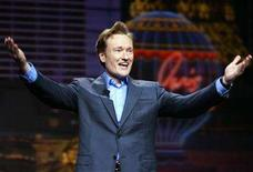 <p>Conan O'Brien gestures at the 2005 International Consumer Electronics Show in Las Vegas January 5, 2005. Idled television talk-show hosts O'Brien and Jay Leno are likely to return to work in early January, even if the Hollywood writers strike is not settled by then, Daily Variety reported in its Friday edition. REUTERS/Mike Blake</p>