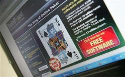 <p>A computer screen displays an online gambling website, October 2, 2006. The United States has reached a deal with the European Union, Japan and Canada to keep its Internet gambling market closed to foreign companies, but is continuing talks with India, Antigua and Barbuda, Macau and Costa Rica, U.S. trade officials said on Monday. REUTERS/Toby Melville</p>