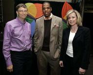 "<p>In this file photo Microsoft Corp. Chairman Bill Gates (L), president and CEO of Def Jam Recordings Shawn ""Jay-Z"" Carter (C) and Microsoft corporate vice president and chief media revenue officer Joanne Bradford are pictured backstage at the seventh annual MSN Strategic Account Summit in Redmond, Washington May 3, 2006. ""Jay-Z"" is stepping down as president of its Def Jam Records unit, effective by the end of the year. REUTERS/Robert Sorbo/Microsoft/Handout</p>"