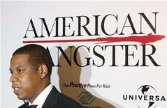 """<p>Recording artist """"Jay Z"""" arrives for the premiere of the film """"American Gangster"""" in New York October 19, 2007. REUTERS/Lucas Jackson</p>"""