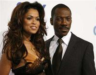 """<p>Eddie Murphy poses with Tracey Edmonds at the premiere of """"Good Luck Chuck"""" at the Mann National theatre in Westwood, California, September 19, 2007. Murphy married film producer Edmonds on a private island in French Polynesia on Tuesday, People magazine reported. REUTERS/Mario Anzuoni</p>"""