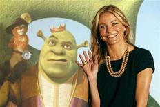 """<p>Cameron Diaz poses during a media event before the premiere of """"Shrek the Third"""" in Taipei May 25, 2007. From menacing Spartan warriors to chipper singing chipmunks, 2007's boxoffice attractions spanned the gamut. REUTERS/Claro Cortes IV</p>"""