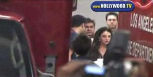 <p>Britney Spears is shown in this frame grab from Hollywood.TV video as she is wheeled out of the ambulance on a gurney at Cedars-Sinai Medical Center in Los Angeles late January 3, 2008. Singer Britney Spears was taken to the hospital after police spent about four hours at her house trying to mediate a custody dispute, according to witnesses. REUTERS/Hollywood.TV/Handout</p>