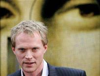"""<p>Paul Bettany poses for photographers in front of newly liveried 'Da Vinci Code' train at the Waterloo Eurostar station in London on May 16, 2006. Bettany has joined the cast of """"The Secret Life of Bees,"""" a drama based on the novel by Sue Monk Kidd. REUTERS/Kieran Doherty</p>"""