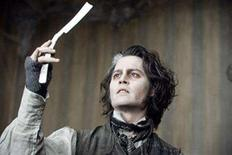 """<p>Johnny Depp in a scene from """"Sweeney Todd: The Demon Barber of Fleet Street"""" in an image courtesy of DreamWorks Pictures. REUTERS/Handout</p>"""