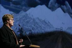 "<p>Robert Redford, director, actor and founder of the Sundance Film Festival, introduces the premiere of ""In Bruges"" at the Eccles theatre on the opening day of the 2008 Sundance Film Festival in Park City, Utah, January 17, 2008. REUTERS/Lucas Jackson</p>"