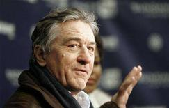 "<p>Robert De Niro gestures as he answers a reporter's question at the premiere of ""What Just Happened?"" during the 2008 Sundance Film Festival in Park City, Utah January 19, 2008. The Sundance Film Festival entered its second week on January 21, 2008 amid a cooling market for buying films, while documentaries stole the spotlight and Hollywood insiders defended the indie spirit of star-filled movies like ""What Just Happened?"" REUTERS/Mario Anzuoni</p>"