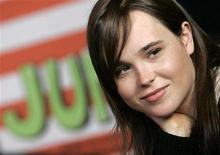 """<p>Canadian actress Ellen Page attends a news conference presenting her film """"Juno"""" at the Rome International Film Festival in this October 26, 2007 file photo. Page was nominated for best actress for her role in 'Juno' for the 80th annual Academy Awards, announced in Beverly Hills January 22, 2008. The Oscars will be presented February 24, 2008 in Hollywood, California. REUTERS/Dario Pignatelli</p>"""