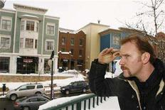 """<p>Director Morgan Spurlock poses for a portrait to promote his new film """"Where in the World Is Osama Bin Laden?"""" during the 2008 Sundance Film Festival in Park City, Utah January 22, 2008. REUTERS/Lucas Jackson</p>"""
