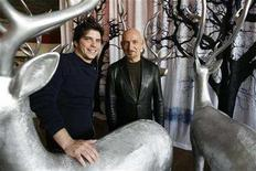 "<p>Cast member Ben Kingsley (R) and director Jonathan Levine of the movie ""The Wackness"" pose during the 2008 Sundance Film Festival in Park City, Utah January 19, 2008. REUTERS/Mario Anzuoni</p>"