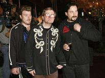 """<p>The Trailer Park Boys (L-R) Ricky (played by Rob Wells), Bubbles (Mike Smith) and Julian (John Paul Tremblay) arrive for the red carpet premiere of """"Trailer Park Boys: the Movie"""" in Toronto October 3, 2006. REUTERS/J.P. Moczulski</p>"""