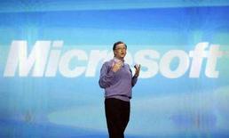 <p>Il fondatore di Microsoft Bill Gates al Consumer Electronics Show a Las Vegas il 6 gennaio 2008. REUTERS/Rick Wilking</p>