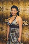 <p>Justina Machado arrives at an after-party following the Golden Globes in Los Angeles, California January 16, 2006. REUTERS/Lucas Jackson</p>