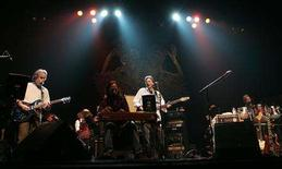 "<p>Guitarist Bob Weir (L), Phil Lesh (C) and Mickey Hart (R), three of the remaining living members of the band ""The Grateful Dead,"" perform at the Warfield Theatre in San Francisco, California February 4, 2008. REUTERS/Robert Galbraith</p>"