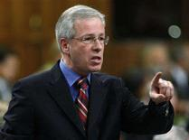 <p>Liberal leader Stephane Dion stands to speak during Question Period in the House of Commons on Parliament Hill in Ottawa February 7, 2008. REUTERS/Chris Wattie</p>