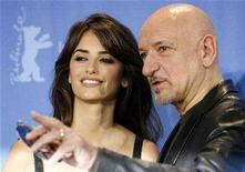 <p>Penelope Cruz and Ben Kingsley pose during a photocall to present their film 'Elegy' running in the competition at the 58th Berlinale International Film Festival in Berlin, February 10, 2008. REUTERS/Fabrizio Bensch</p>