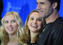 <p>Actors Scarlett Johansson (L), Natalie Portman and Eric Bana pose during a photocall to present their film 'The other Boleyn Girl' running at the 58th Berlinale International Film Festival in Berlin, February 15, 2008. The 58th Berlinale, one of the world's most prestigious film festivals, runs from February 7 to 17 in the German capital. REUTERS/Hannibal Hanschke</p>