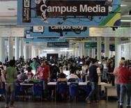 <p>Público participa da Campus Party, no Anhembi, na quarta-feira. Evento tem mostras de informática, robótica, astronomia e videogames e conta com cerca de 3 mil participantes. Photo by Paulo Whitaker</p>