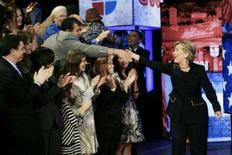 <p>A pré-candidata democrata à presidência dos EUA, Hillary Clinton, durante campanha no Texas. Os votos hispânicos serão fundamentais para Hillary em prévias do Texas. Photo by John Gress</p>