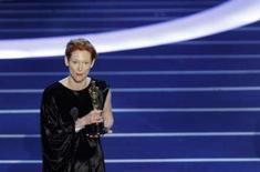<p>Tilda Swinton, de 'Conduta de Risco', recebeu o Oscar de melhor atriz coadjuvante neste domingo, na 80a edição dos prêmios mais importantes da indústria cinematográfica. Foto em Hollywood, 24 de fevereiro. Photo by Gary Hershorn</p>