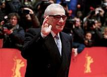 """<p>Director Martin Scorsese waves at the red carpet as he arrives for the screening of the opening film 'Shine A Light' running in competition at the 58th Berlinale International Film Festival in Berlin February 7, 2008. Emily Mortimer and Jackie Earle Haley will play mental patients in the mystery drama """"Shutter Island,"""" Scorsese's latest collaboration with Leonardo DiCaprio. REUTERS/Johannes Eisele</p>"""