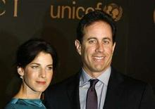 <p>Comedian Jerry Seinfeld and his wife Jessica arrive to attend a reception to benefit UNICEF hosted by Gucci and Madonna at the United Nations headquarters in New York February 6, 2008. Seinfeld and his wife deny he defamed the author of a rival cookbook in a television appearance and have asked for the dismissal of a plagiarism suit filed over the book. REUTERS/Lucas Jackson</p>