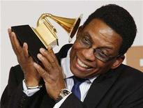 "<p>Herbie Hancock poses with his award for Best Contemporary Jazz Album for ""River: The Joni Letters"" at the 50th Annual Grammy Awards in Los Angeles February 10, 2008. Hancock is among the headliners slated for the Playboy Jazz Festival. REUTERS/Lucy Nicholson</p>"